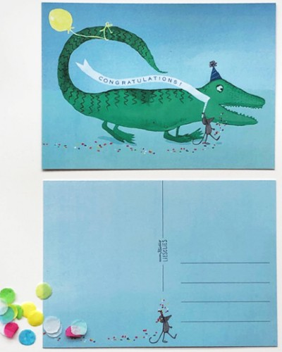 Krokodil feliciteert Illustratie