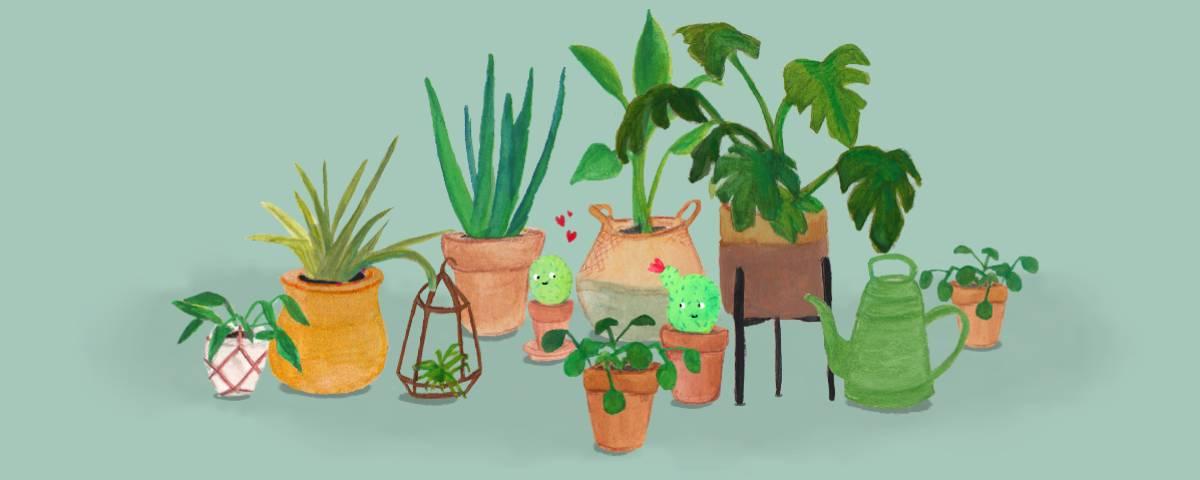 Illustraties Planten Vrolijke Fris
