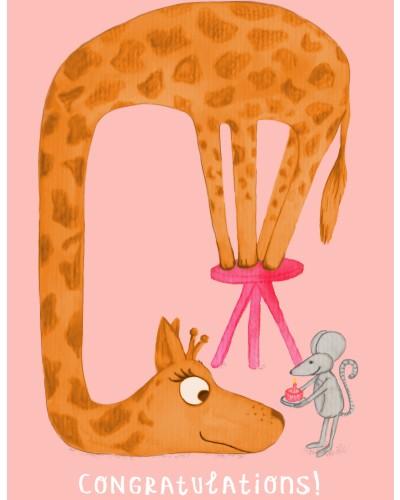 Giraf Jarig kaartje