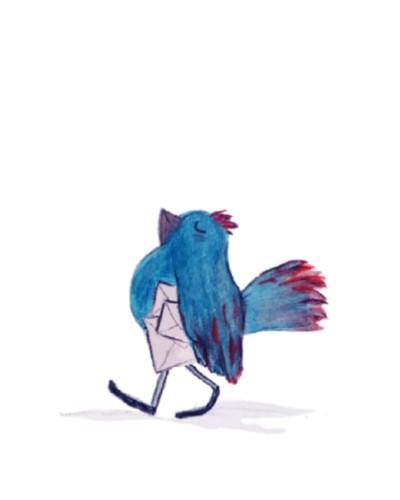 Illustratie Postvogel LieseLies