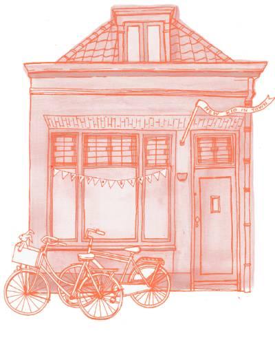 Huisportret illustratie Kado