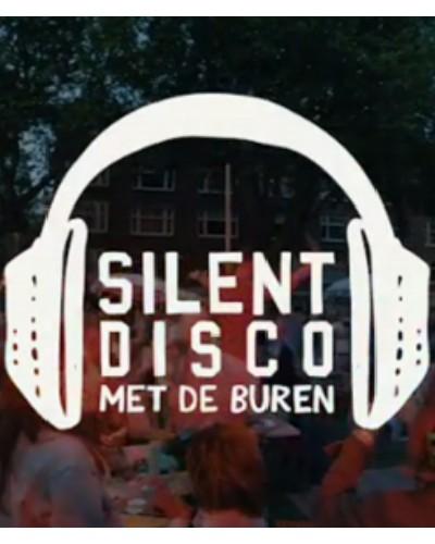 Logo Illustratie Silent Disco met de Buren