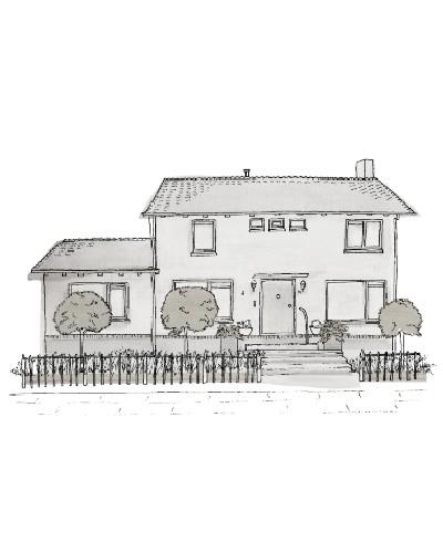 Vrijstaand huis Illustratie
